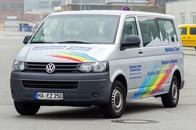 Rainbow Lines, Mannheim, Bus, Shuttle, Transport, Personen